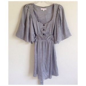 Betsey Johnson Vintage Gingham Silk Dress
